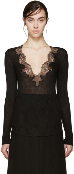 Картинки по запросу black cashmere with lace sweater