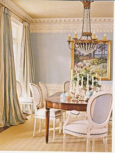 Design is in the Details: The crown molding of this dining room is incredible