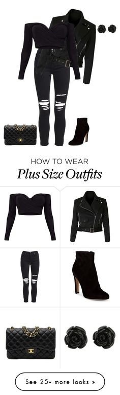 """""""outfit 163"""" by natycombo on Polyvore featuring AMIRI, Gianvito Rossi and Chanel"""