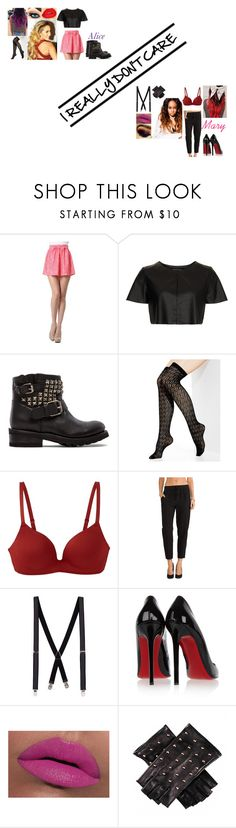 """""""Arts School:I really don't care by Demi Lovato"""" by glee2shake ❤ liked on Polyvore featuring Retrò, Topshop, Ash, Vince Camuto, Uniqlo, Krisa, Topman, Christian Louboutin and LORAC"""