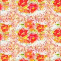 POPPY FIELDS WARM HOT SUMMER poppies fabric by paysmage on Spoonflower - custom fabric