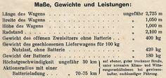 Datenblatt: Erster deutscher Elektro-Postwagen http://www.pinterest.com/pin/539587599075578474/ , Konstruktion Joseph Vollmer bei Kühlstein-Wagenbau aus dem Jahr 1898. #vmdup Reproduktion: Verkehrsmuseum Dresden