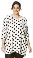 Junarose Spot Print Plus Size Tunic, Women's