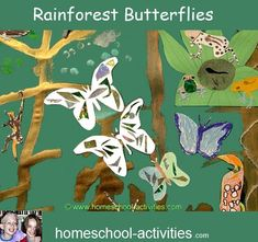 Fun rainforest kids crafts and ideas.  Make a bromeliad from a pineapple, set up a terrarium for carnivorous plants and create a rainforest scene.  More fun activities from one of the very few second generation homeschooling families. www.homeschool-activities.com/homeschool-science.html Rainforest Preschool, Rainforest Project, Rainforest Theme, Amazon Rainforest, Kindergarten Projects, Classroom Art Projects, Jungle Art, Jungle Theme, Preschool Arts And Crafts