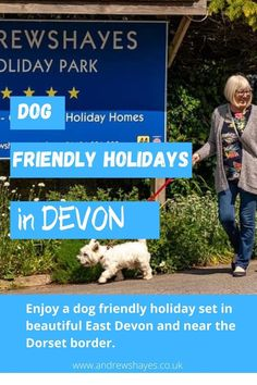 We know that being able to take your dog on holiday with you is really important to many people. Touring or camping with your dog can be great fun and we also have luxury dog friendly static holiday homes to hire. in a beautiful part of East Devon in the South of England. Devon Holidays, Dog Friendly Holidays, Holiday Park, Health And Safety, Dog Walking, Dog Friends, Motorhome, Caravan, Walks