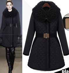 Morpheus Boutique  - Black  Long Sleeve Trendy Belted Celebrity Shoulder Coat