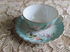 Sale Priced Antique demitasse cup and saucer by SmallsbySunny, $25.00