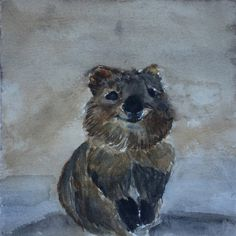 Hey, I found this really awesome Etsy listing at https://www.etsy.com/listing/469299271/quokka-watercolor-print