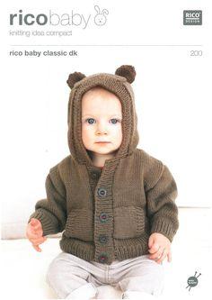 Babies Hoodies in Rico Baby Classic Dk | Black Sheep Wools