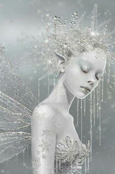 Winter snow fairy...how cute