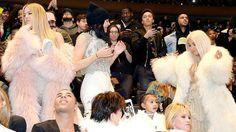 MC Hammer had a hot seat at the Yeezy Season 3 unveiling on Thursday, Feb. 11, including a prime spot to watch the Kardashians and little North West dance