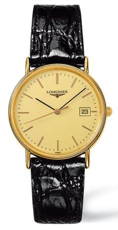 L4.720.2.32.2, L47202322, Longines presence leather strap watch, mens