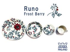 Arabia Runo Frostberry Cherry Tree, Yukata, Frost, Berries, Decorative Plates, Kitchen, Design, Cooking, Kitchens