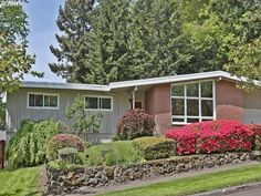 Mid-Mod Pick of the Week - 1960 Cedar Hills (SW) Mid-century Mod. Vaulted ceilings, floor to ceiling windows, original kitchen with minimal updates, awesome basement with original paneled office, cork floors, fireplace. On Commonwealth Park. $464,500.
