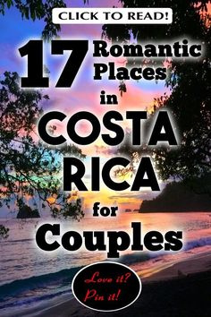 What are the best places to stay in Costa Rica for couples? Costa Rica is one of the most beautiful places on Earth. All couples need to occasionally reconnect & Costa Rica is a great place to do that, with its white sand beaches, jungles, rain-forests, Romantic Honeymoon, Romantic Places, Beautiful Places, Puntarenas, Beach Vacation Tips, Beach Vacations, Couple Goals, Couple Travel, Viajes