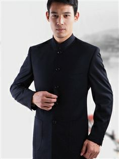 Men's clothes in Chinese style--Chinese tunic suit Chinese Style, Chinese Man, African Wear Styles For Men, Mens Clothing Styles, Men's Clothing, Black Singles, Fitted Suit, Future Fashion, Fashion 2017