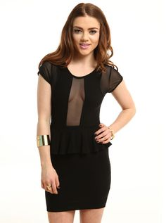 "https://www.cityblis.com/6024/item/5712 | Dita Peplum Dress - $40 by Living Royal | This black peplum dress is a sure eye catcher. Walk out in style with this classic black dress.   *74% rayon, 22% polyester, 2% spandex *Made in USA *Model wears small MODEL INFO  Bella is a US size 2 Height: 5' 5"" Bust:32"" / Waist: 26"" / Hips: 34""  