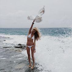 Варя Демидова, море, девушка
