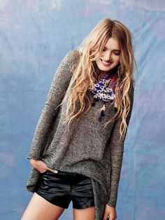 Lily Donaldson for the Free People December 2012 Lookbook.