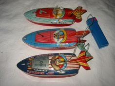 Tony Wells' collection of antique toy tin boats (visit the Small Craft Rendezvous - June 22, 2013).