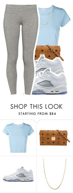 """""""6/30/16"""" by lookatimani ❤ liked on Polyvore featuring RE/DONE, MCM, Jordan Brand, Giani Bernini and TNA"""