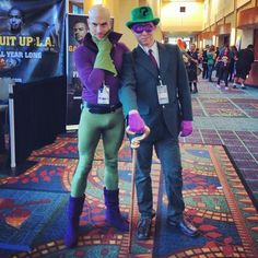 Excellent Lex Luthor and Riddler #cosplay
