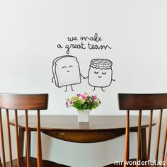 Wall decal - We make a great team
