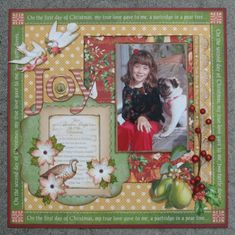 The Twelve Days of Christmas layout by Annette! So wonderful #graphic45 #layouts