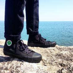 Each step you take reveals a new horizon - Dan Poynter. // men's style // Jean Cuff // Shoes: PF Flyers - the Sandlot (Black) // Jeans: Levi 511 - Black // IG: gabe_nicolas_cotton  https://instagram.com/gabe_nicolas_cotton/