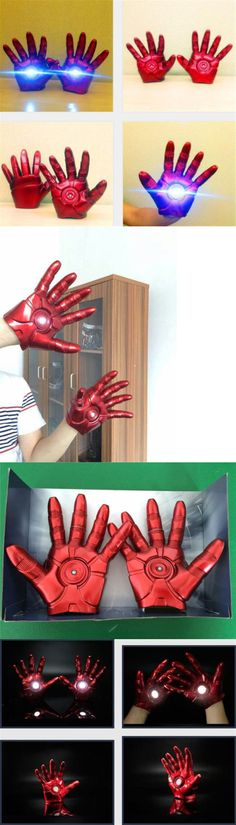 Gloves 155348: Iron Man Halloween Cosplay Gauntlet Gloves Led Left Right Hand 1:1 Adult Gloves -> BUY IT NOW ONLY: $49.9 on eBay!