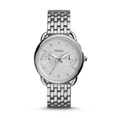 or in silver Fossil Women's Tailor Rose Gold-Tone Stainless Steel Bracelet Watch - Watches - Jewelry & Watches - Macy's Stainless Steel Watch, Stainless Steel Bracelet, Fossil Watches For Men, Women's Watches, Wrist Watches, Silver Watches, Analog Watches, Ladies Watches, Cheap Watches