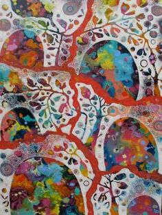 Rosetta Santucci canvas from above Nina's bed in Offspring Paintings I Love, Beautiful Paintings, Collage, Art For Art Sake, Whimsical Art, Art Forms, Creative Art, New Art, Fiber Art
