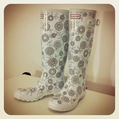 Johanna Basford: Wedding Wellies; hand drawn design done with... Sharpie!