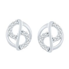 Giantti White Gold 10KT Diamond Women's Stud Earring - IGL Certified (0.144 Ct, I1 Clarity, GH-Colour) * Want additional info? Click on the image.-It is an affiliate link to Amazon. #Earring
