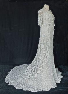 Irish Crochet robe de mariée vers 1905 par PenniesLondon sur Etsy, £3950.00