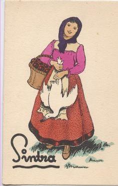 Vendedora de patos - Costume de Sintra - Portugal