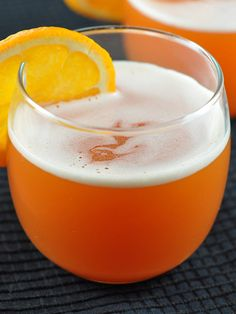 Halloween Witches Brew - a 3-ingredient orangey non-alcoholic punch that's perfect for a Halloween party! Spike it for the adults or leave it as-is for the kids.