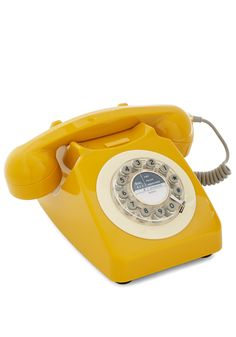 Ring True Desk Phone in Yellow, #ModCloth