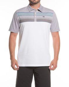 Leeway White Golf Polo | TravisMathew Designer Golf Apparel