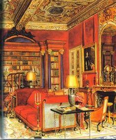 La biblioteca del barón Alexis de Rede en el Hotel Lambert  Alexandre Serebriakoff (Rusia, 1907-1994)