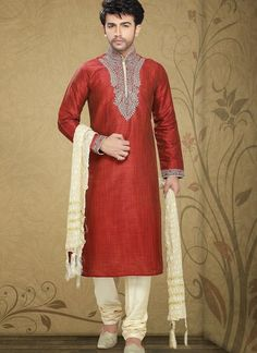 Captivating Dark Red Wine Kurta Pyjama Men's Wear #wedding #ShalwarKameez #Designer #Pakistani #Suits #GroomMens #menswear #AsianClothes #India #Reception #Fashion #Punjabi #Style #IndianGroom #GroomSuit #menDresses #Embroidery #Bollywood