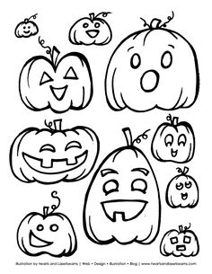 Free Halloween Printable Pumpkins and Jack o Lanterns #coloring pages