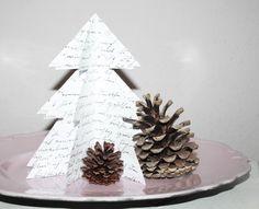 Deko und Accessoires für Weihnachten: Weihnachtsbaum 3D Papier Weihnachtsdeko…