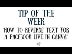 How to Reverse text for a Facebook Live