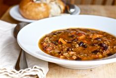 Lentil & Black Bean Soup