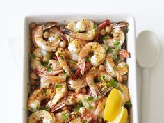 Stamp of approval from the family! Garlic Shrimp and Chickpeas