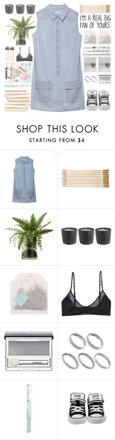 """""""Untitled #292"""" by chantellehofland ❤ liked on Polyvore featuring Equipment, Kate Spade, Monki, Clinique, ASOS and Supersmile"""
