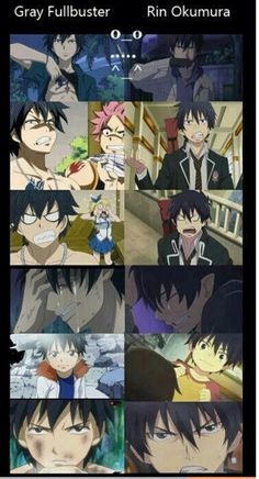 Fairytail and blue exorcist