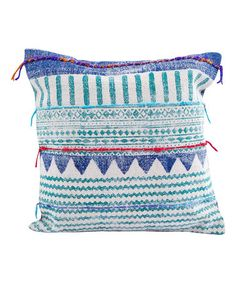 Look what I found on #zulily! Block Printed Chimayo Throw Pillow #zulilyfinds
