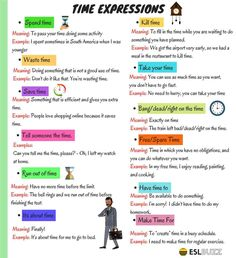 """Common Expressions with the Word """"TIME"""" in English - ESL Buzz"""